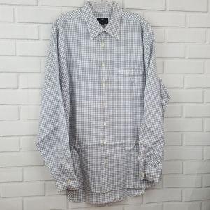 Hickey Freeman Tattersall Cotton Button Down Shirt